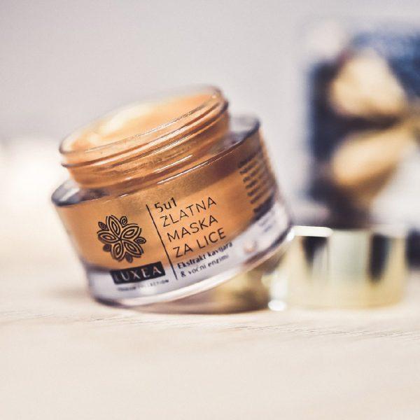 set golden beauty zlatna maska